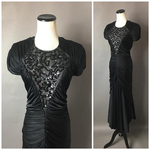 Vintage 1980s cocktail mermaid dress  #3874
