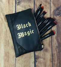 "Load image into Gallery viewer, ""Black Magic"" Cosmetic Bag"