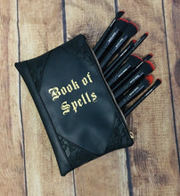 "Load image into Gallery viewer, ""Book of Spells"" Cosmetic Bag"
