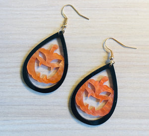Pumpkin Tear Drop Earrings