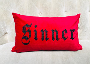 Velvet Pillow Cover - Sinner