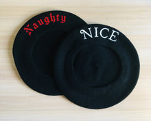 Load image into Gallery viewer, Vegan Beret - Naughty/Nice