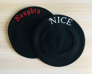 Vegan Beret - Naughty/Nice