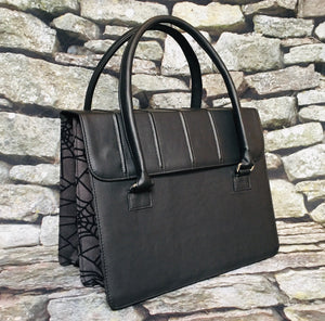 Charcoal Web Satchel