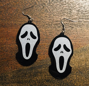 Glitter Scream Earrings