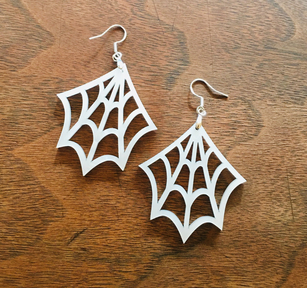 Pearl Spider Web Earrings