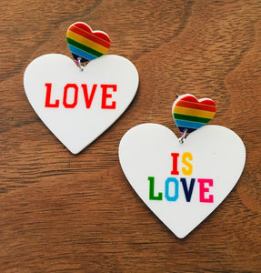 Love Is Love Rainbow Earrings