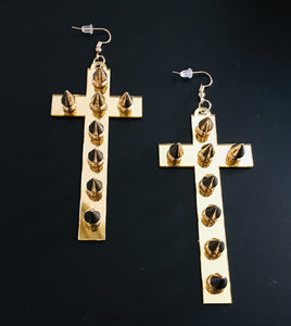 Studded Cross Earrings
