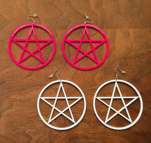 Large Pentacle Earrings