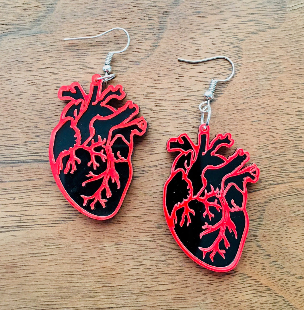 Anatomical Heart Earrings