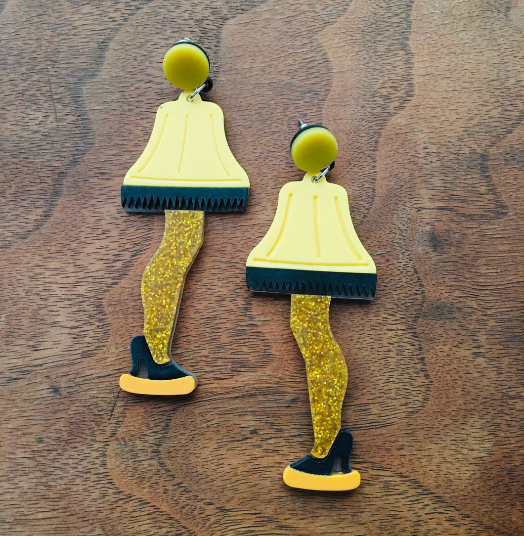 Leg Lamp Earrings