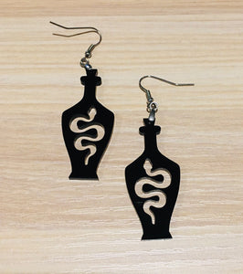 Snake in Bottle Earrings