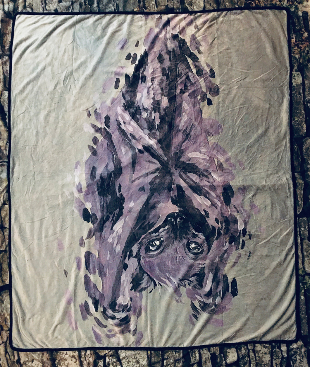 Fleece Blanket - Fledermaus - Collab w/ BrandyAbroad