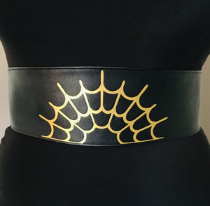 Wide Vegan Leather Belt