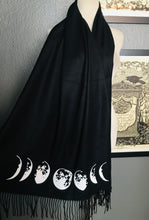 Load image into Gallery viewer, Vegan Cashmere Scarf - Moon Phase