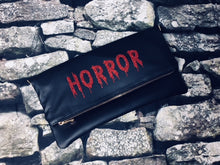 "Load image into Gallery viewer, ""Horror"" Fold Over Crossbody Bag"