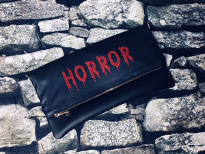 """Horror"" Fold Over Crossbody Bag"