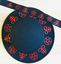 Load image into Gallery viewer, Vegan Flat Top Felt Hat - Occult