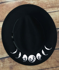 Vegan Felt Hat - Moon Phase