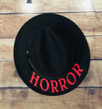 Load image into Gallery viewer, Vegan Felt Hat - Red Glitter Horror