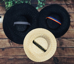 Black XL brim, Black Medium brim, Natural Medium brim