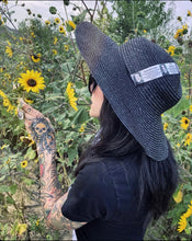 Load image into Gallery viewer, Black Sun Hat - Medium Brim