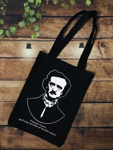 Edgar Allan Poe Tote Bag - Heavy Duty