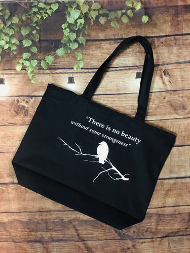 Poe Quote - Large Summer Tote Bag
