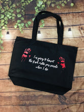 Load image into Gallery viewer, I'm going to haunt - Large Summer Tote Bag