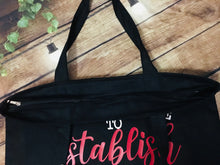 Load image into Gallery viewer, I'm only here to establish my alibi - Large Summer Tote Bag