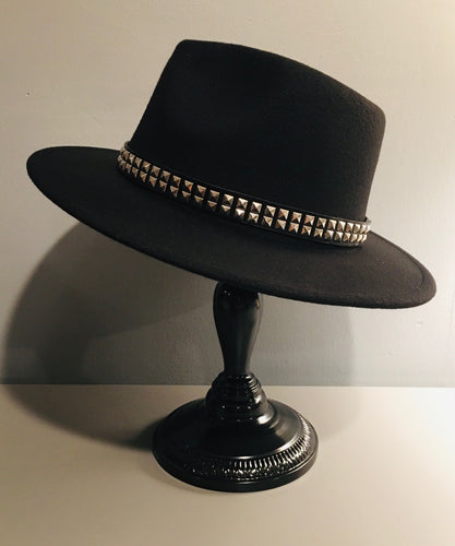 Vegan Felt Hat - Plain - Studded