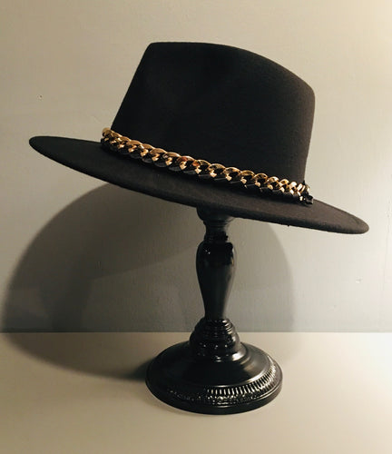 Vegan Felt Hat - Plain - Chains
