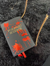 "Load image into Gallery viewer, ""Forensic Science"" Book Clutch & Crossbody"