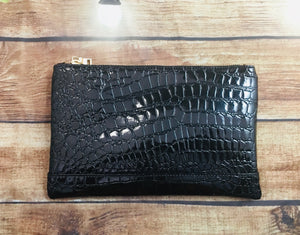Patent Croc Cosmetic Bag
