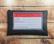 "Load image into Gallery viewer, ""Evidence"" Cosmetic Bag"