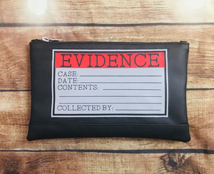 """Evidence"" Cosmetic Bag"