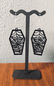 Coffin Web Drop Earrings