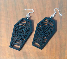 Load image into Gallery viewer, Coffin Web Drop Earrings