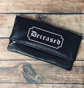 """Deceased"" Fold Over Crossbody Bag"