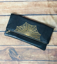 Load image into Gallery viewer, Spider Web Fold Over Crossbody Bag