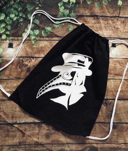 Plague Doctor - Drawstring Backpack