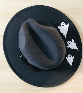 Vegan Felt Hat - Spooky Ghosts