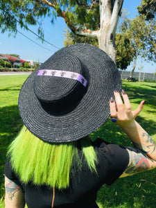 Black Sun Hat - XL Brim