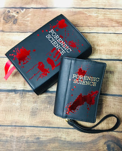 """Forensic Science"" Book Wallet"