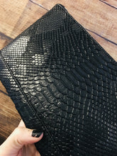 Load image into Gallery viewer, Snake Skin Cosmetic Bag