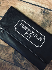 """Dissection Kit"" Fold Over Crossbody Bag"