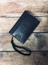 Load image into Gallery viewer, Black Skull Book Wallet