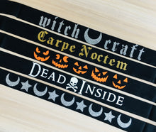 Load image into Gallery viewer, Vegan Suede Belt - Halloween Collection