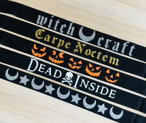Vegan Suede Belt - Halloween Collection