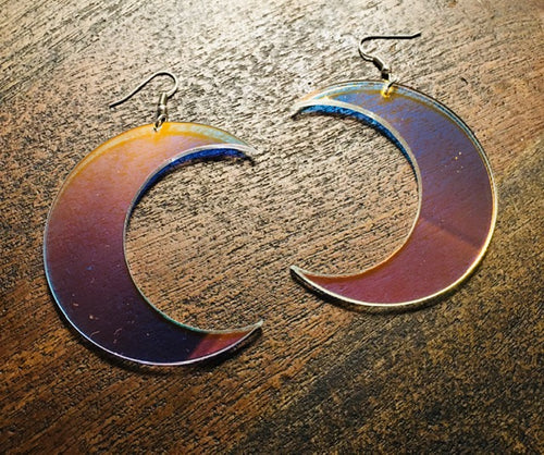Iridescent Moon Earrings
